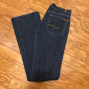 7 For All Mankind Dark Wash Bootcut Jeans 28